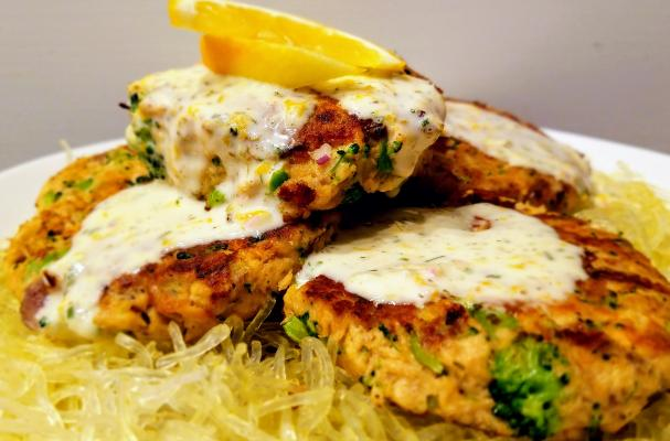 Canned Salmon Patties with Lemon-Dill Aioli