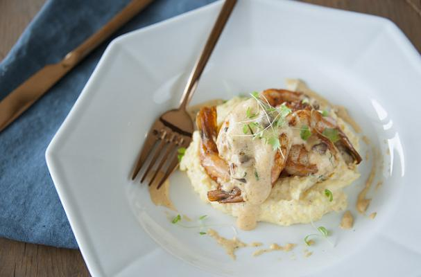 Shrimp and Smoked Grits with Tasso Gravy