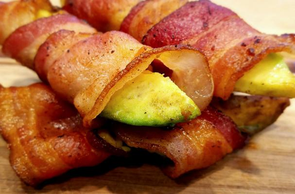 Keto Bacon-Wrapped Avocado Slices