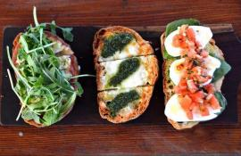 Open-faced sandwiches